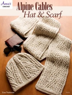 Alpine Cables Hat & Scarf Crochet Pattern