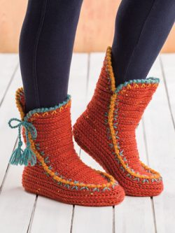 Colorful Fall Boots Crochet Pattern