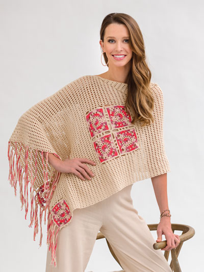 A Little Bit of Splurge Poncho Crochet Pattern