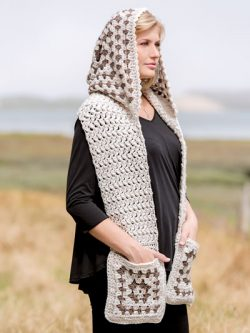 ANNIE'S SIGNATURE DESIGNS: Bethany Hooded Scarf Crochet Pattern