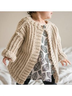 The Child's Play Crochet Cardigan Pattern is a great unisex style.