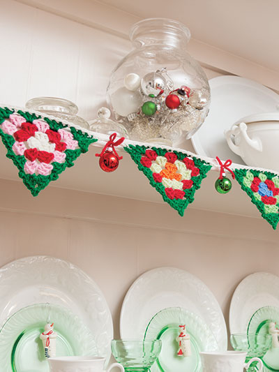 A Granny Square Christmas - bunting